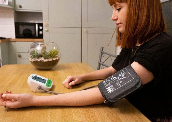 blood pressure monitor he=ome health check